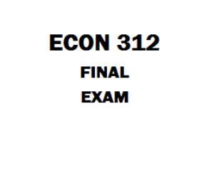 ECON 312 Final Exam | eBooks | Education
