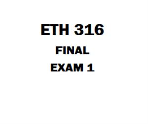 ETH 316 Final Exam Answers | eBooks | Education