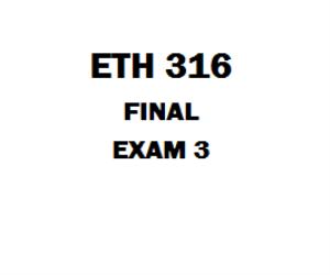 ETH 316 Final Exam | eBooks | Education