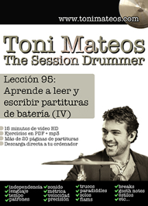 the session drummer. leccion 95. aprende a leer y escribir partituras de bateria (iv)