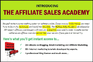 the affiliate sales academy