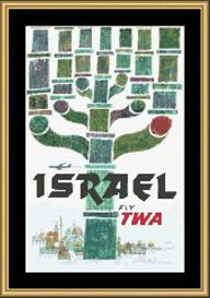 Israel Vintage Travel | Crafting | Cross-Stitch | Wall Hangings