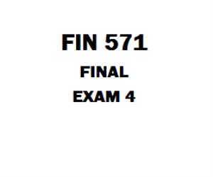 FIN 571 Final | eBooks | Education