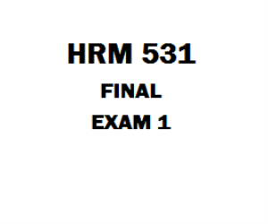 HRM 531 Final Exam Answers | eBooks | Education