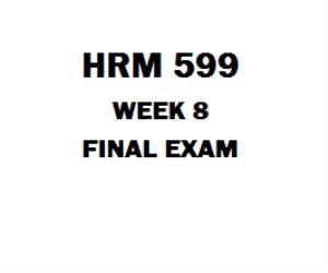HRM 599 Final Exam | eBooks | Education