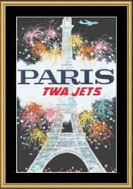 Paris Vintage Travel | Crafting | Cross-Stitch | Wall Hangings
