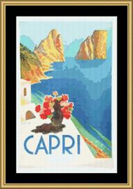 Capri Vintage Travel | Crafting | Cross-Stitch | Wall Hangings