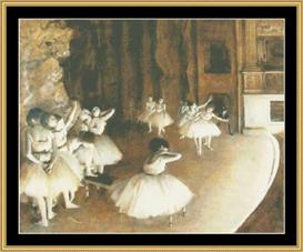 Ballet Rehersal On Stage - Degas | Crafting | Cross-Stitch | Wall Hangings
