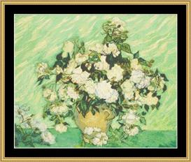 Roses - Van Gogh | Crafting | Cross-Stitch | Wall Hangings