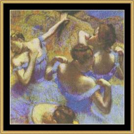 The Blue Dancers - Degas | Crafting | Cross-Stitch | Wall Hangings