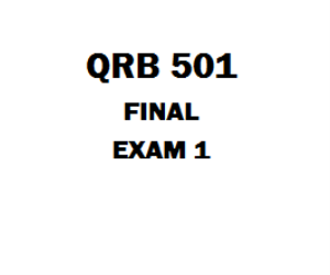 QRB 501 Final Exam 2 | eBooks | Education