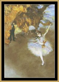 The Star - Degas | Crafting | Cross-Stitch | Wall Hangings