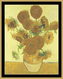 Sunflowers - Van Gogh | Crafting | Cross-Stitch | Wall Hangings