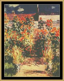 The Steps At Veteuil - Monet | Crafting | Cross-Stitch | Wall Hangings