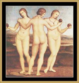 Three Graces - Raphael | Crafting | Cross-Stitch | Wall Hangings
