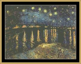 Starry Night On Rhone - Van Gogh | Crafting | Cross-Stitch | Other