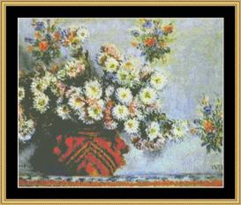 Chrysanthemums - Monet | Crafting | Cross-Stitch | Other
