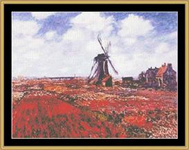 Tulips In Holland - Monet | Crafting | Cross-Stitch | Other