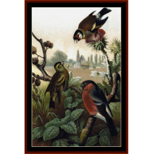 Finches - Wildlife cross stitch pattern by Cross Stitch Collectibles | Crafting | Cross-Stitch | Wall Hangings