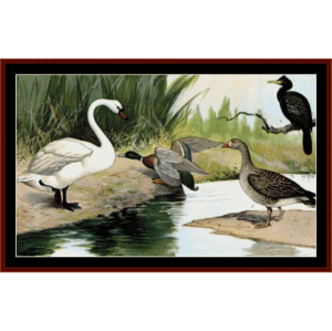Water Birds cross - Wildlife cross stitch pattern by Cross Stitch Collectibles | Crafting | Cross-Stitch | Wall Hangings