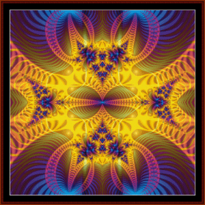 fractal 72 cross stitch pattern by cross stitch collectibles