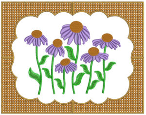 Beautiful Frame 2 - PES   Crafting   Embroidery