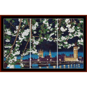 House of Parliament and Big Ben - Asian Art cross stitch pattern by Cross Stitch Collectibles | Crafting | Cross-Stitch | Wall Hangings