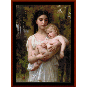 The Younger Brother - Bouguereau cross stitch pattern by Cross Stitch Collectibles | Crafting | Cross-Stitch | Wall Hangings