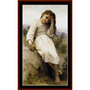 The Little Marauder, 1900 - Bouguereau cross stitch pattern by Cross Stitch Collectibles | Crafting | Cross-Stitch | Wall Hangings