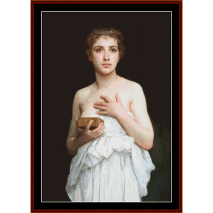 pandora - bouguereau cross stitch pattern by cross stitch collectibles
