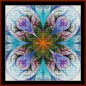 Fractal 485 cross stitch pattern by Cross Stitch Collectibles | Crafting | Cross-Stitch | Wall Hangings