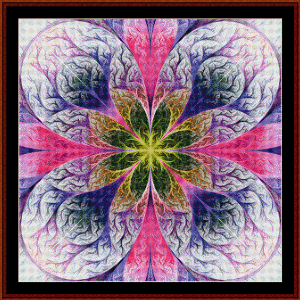 Fractal 488 cross stitch pattern by Cross Stitch Collectibles | Crafting | Cross-Stitch | Wall Hangings