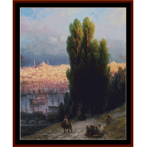 Constantinople, 1880 - Aivazovsky cros stitch pattern by Cross Stitch Collectibles | Crafting | Cross-Stitch | Wall Hangings