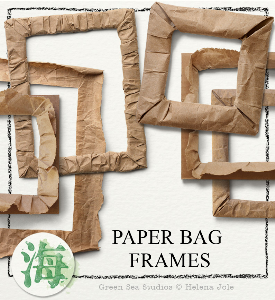 Paper Bag Frames | Crafting | Paper Crafting | Scrapbooking