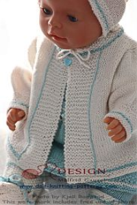 DollKnittingPatterns - 0123D Celine - kurzärmelige Bluse, Rock, Jacke, Leggings, Kopftuch und Socken (Deutsch) | Crafting | Knitting | Baby and Child