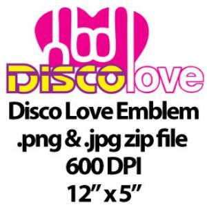 disco love graphic/emblem
