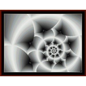 fractal 196 cross stitch pattern by cross stitch collectibles