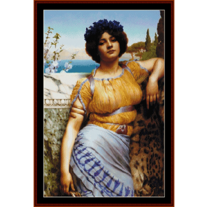 Ionian Dancing Girl - Godward cross stitch pattern by Cross Stitch Collectibles | Crafting | Cross-Stitch | Wall Hangings
