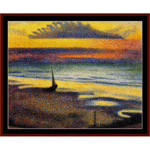 On the Beach - Lemmen cross stitch pattern by Cross Stitch Collectibles | Crafting | Cross-Stitch | Wall Hangings