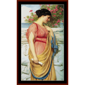 Sappho - Godward cross stitch pattern by Cross Stitch Collectibles | Crafting | Cross-Stitch | Other