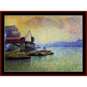 view of the thames - cross cross stitch pattern by cross stitch collectibles