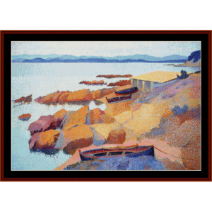 Coast Near Antibes - Cross cross stitch pattern by Cross Stitch Collectibles | Crafting | Cross-Stitch | Wall Hangings