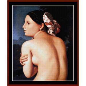 Bather - Ingres cross stitch pattern by Cross Stitch Collectibles | Crafting | Cross-Stitch | Wall Hangings