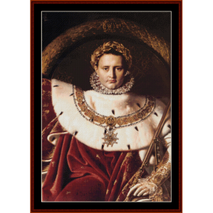 Napoleon I - Ingres cross stitch pattern by Cross Stitch Collectibles | Crafting | Cross-Stitch | Wall Hangings