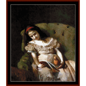Books Got Her - Kramskoy cross stitch pattern by Cross Stitch Collectibles | Crafting | Cross-Stitch | Wall Hangings