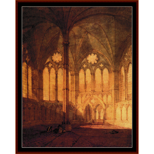 salisbury cathedral - turner cross stitch pattern by cross stitch collectibles