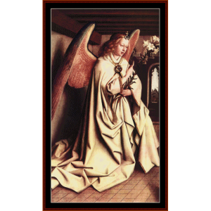 Angel of the Annunciation - Van Eyk cross stitch pattern by Cross Stitch Collectibles | Crafting | Cross-Stitch | Wall Hangings