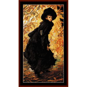October - Tissot cross stitch pattern by Cross Stitch Collectibles | Crafting | Cross-Stitch | Wall Hangings