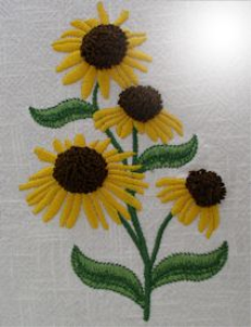 Coneflower Impressions - SEW | Crafting | Embroidery