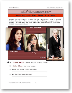 the devil wears prada, the boss arrives, short-sequence english (esl) lesson